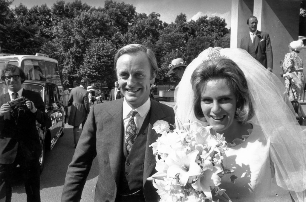 Camilla and Andrew Parker Bowles' wedding