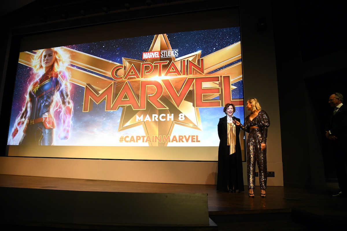 Annette Bening and Brie Larson at the 'Captain Marvel' special screening