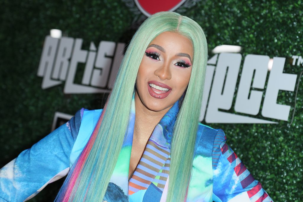 """Cardi B attends the Swisher Sweets Awards Cardi B With The 2019 """"Spark Award"""" at The London West Hollywood on April 12, 2019 in West Hollywood, California."""