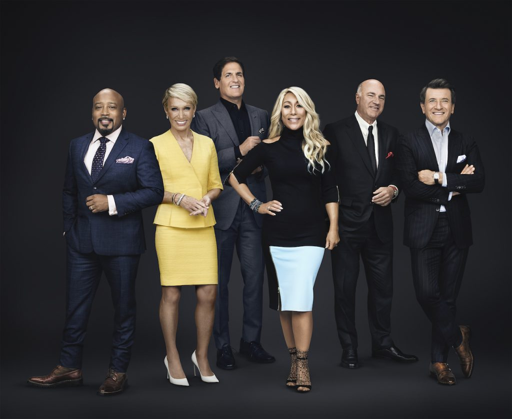 Daymond John, Barbara Corcoran, Mark Cuban, Lori Greiner, Kevin O'Leary, and Robert Herjavec of ABC's 'Shark Tank'