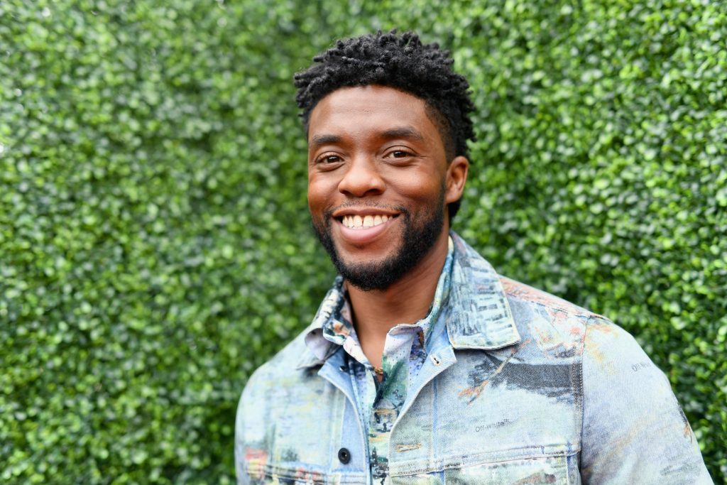 Actor Chadwick Boseman attends the 2018 MTV Movie And TV Awards