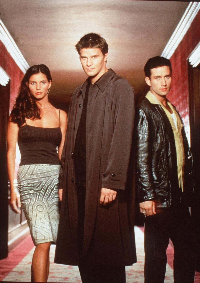 Charisma Carpenter, David Boreanaz, and Glenn Quinn in 'Angel'