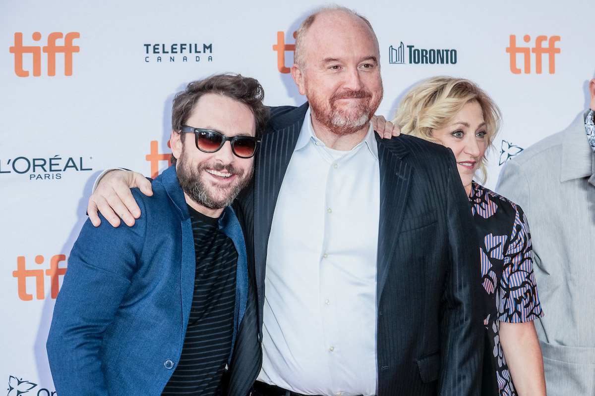 """Charlie Day, Louis C.K., and Edie Falco attend the """"I Love You, Daddy"""" premiere during the 2017 Toronto International Film Festival"""