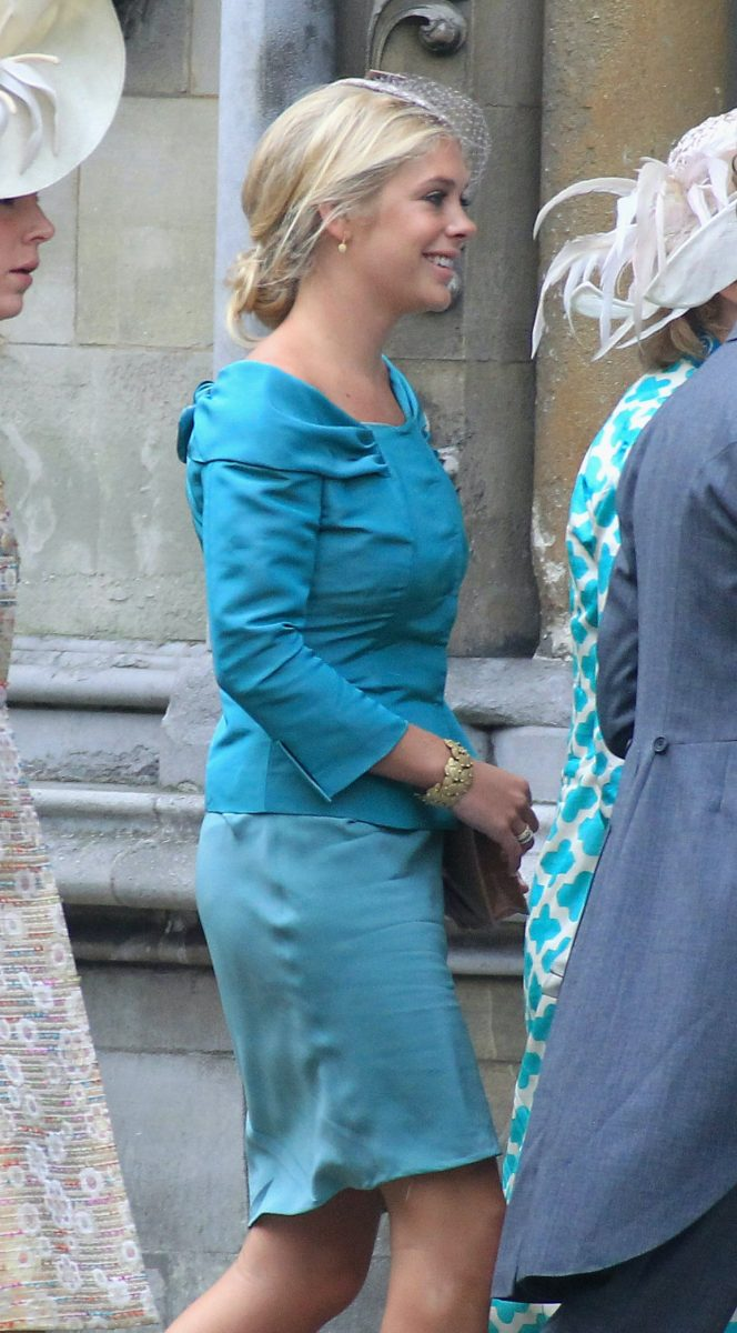 Chelsy Davy attends the royal wedding of Prince William and Kate Middleton