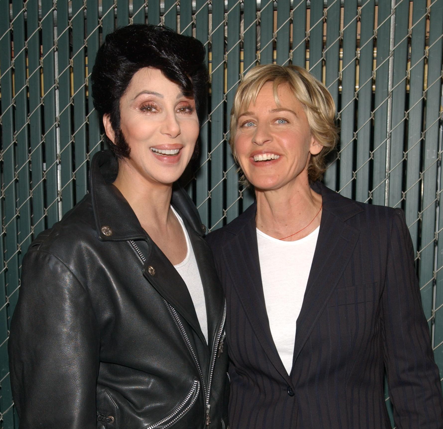Cher and Ellen DeGeneres