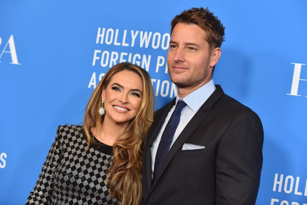 Justin Hartley and wife US actress Chrishell Stause