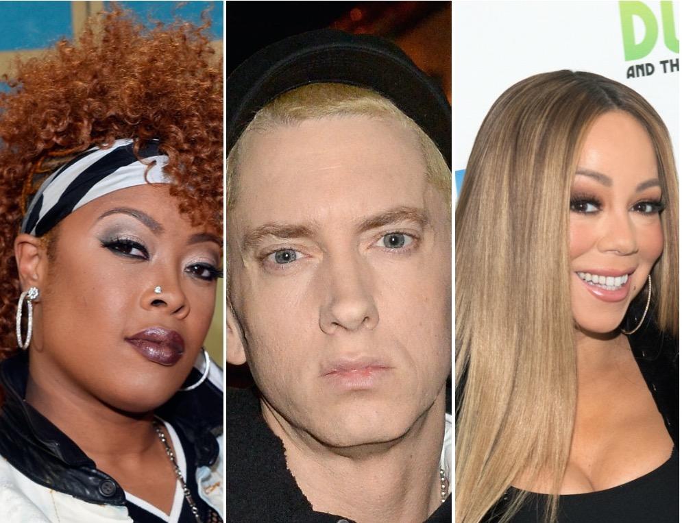 Da Brat, Eminem, and Mariah Carey