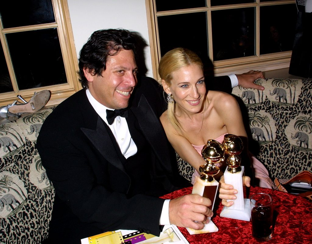 Darren Starr and Sarah Jessica Parker at a Golden Globe after party