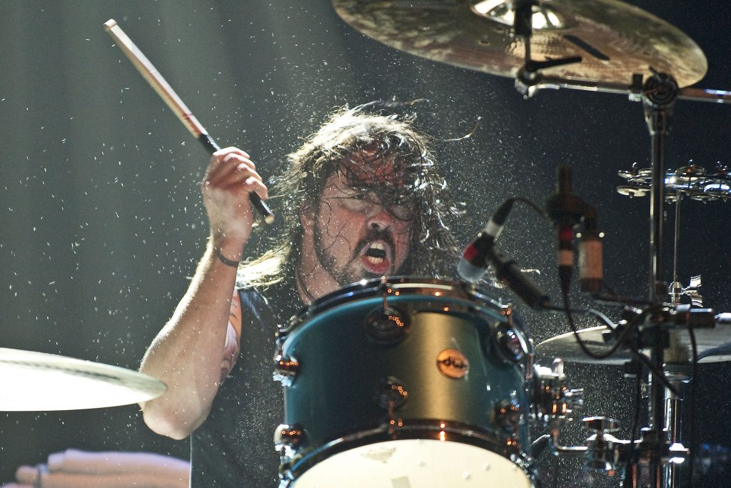 Dave Grohl performs with Them Crooked Vultures