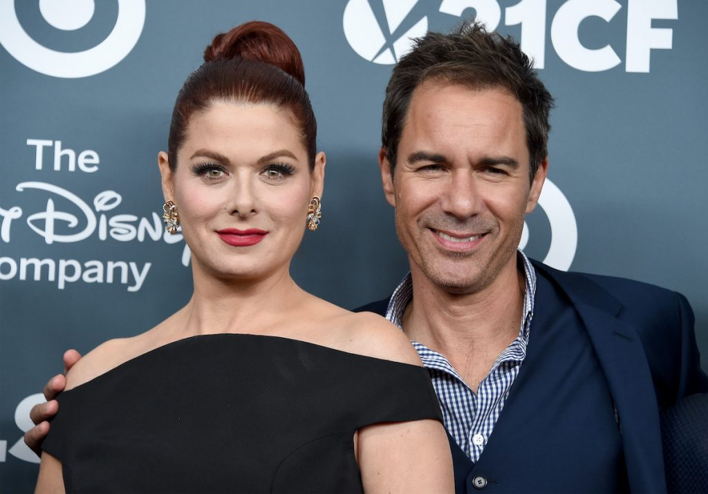 Debra Messing and Eric McCormack arrive at the GLSEN Respect Awards