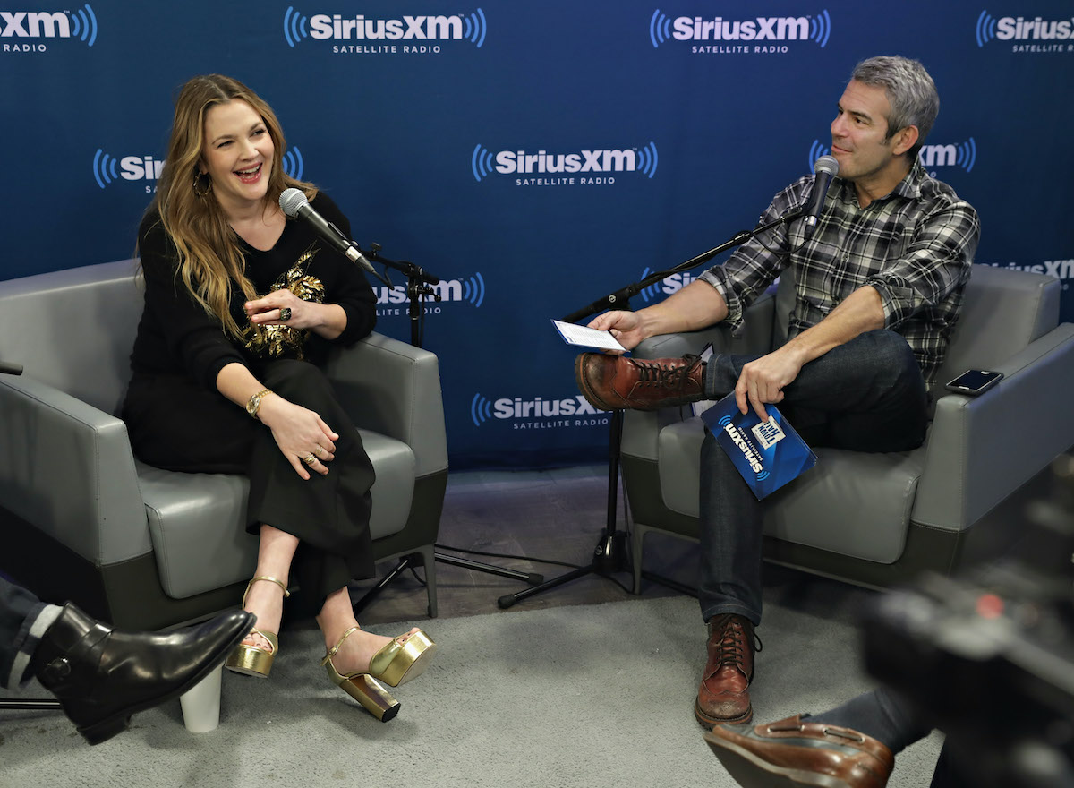 Drew Barrymore and Andy Cohen