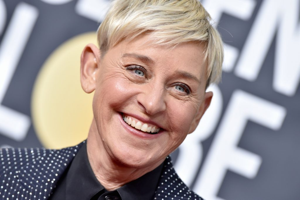 Ellen DeGeneres attends the 77th Annual Golden Globe Awards at The Beverly Hilton Hotel