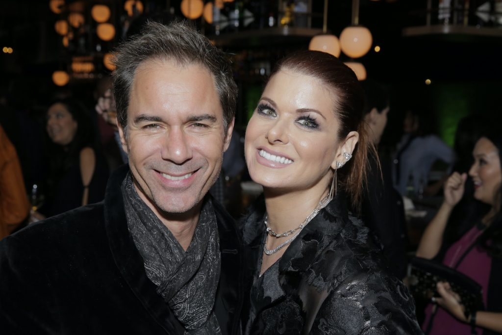 Eric McCormack and Debra Messing at the Vanity Fair NBC Primetime Party in 2018