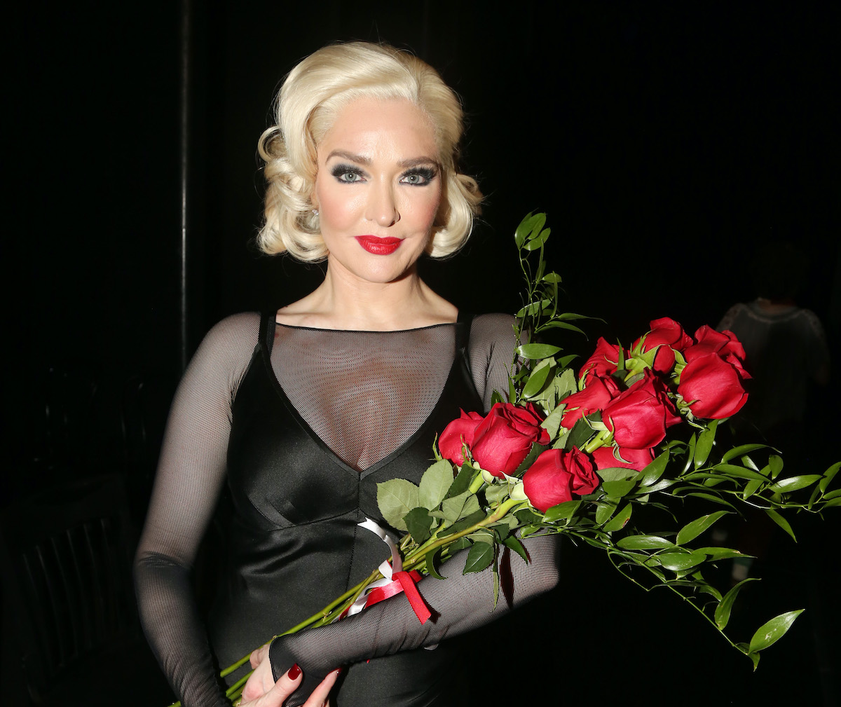 """Erika Jayne as 'Roxie Hart' poses backstage after making her broadway debut in the hit musical """"Chicago"""" on Broadway"""