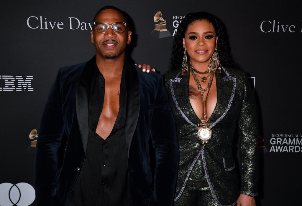 Faith Evans and Stevie J attend The Recording Academy And Clive Davis' 2019 Pre-GRAMMY Gala