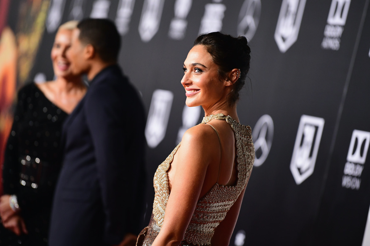 Gal Gadot at the 'Justice League' premiere