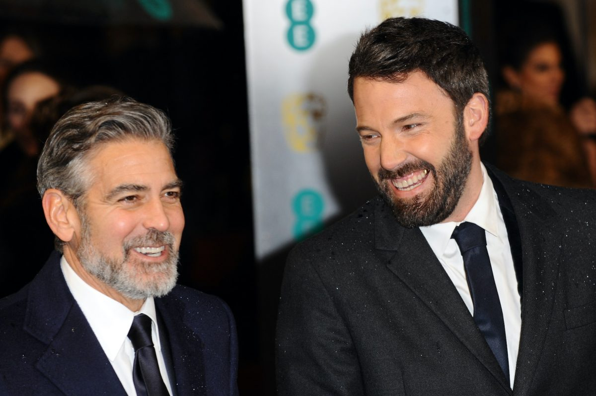 George Clooney and Ben Affleck at the 2013 EE British Academy