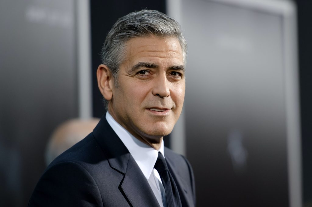 George Clooney at the premiere of 'Gravity'