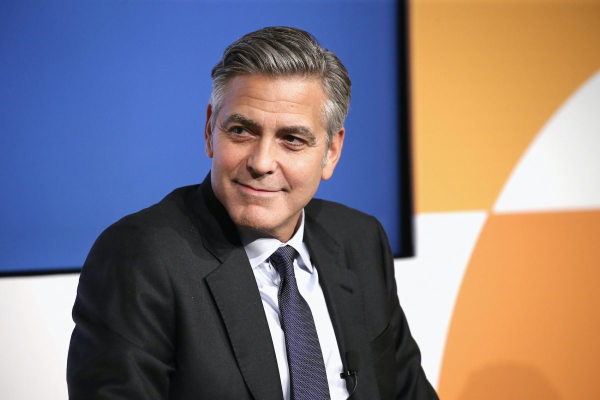 George Clooney Almost Starred in 'Jack Frost' Instead of Michael Keaton George-Clooney-speaks-at-the-100-Lives-Initiative-in-2015-1200x800