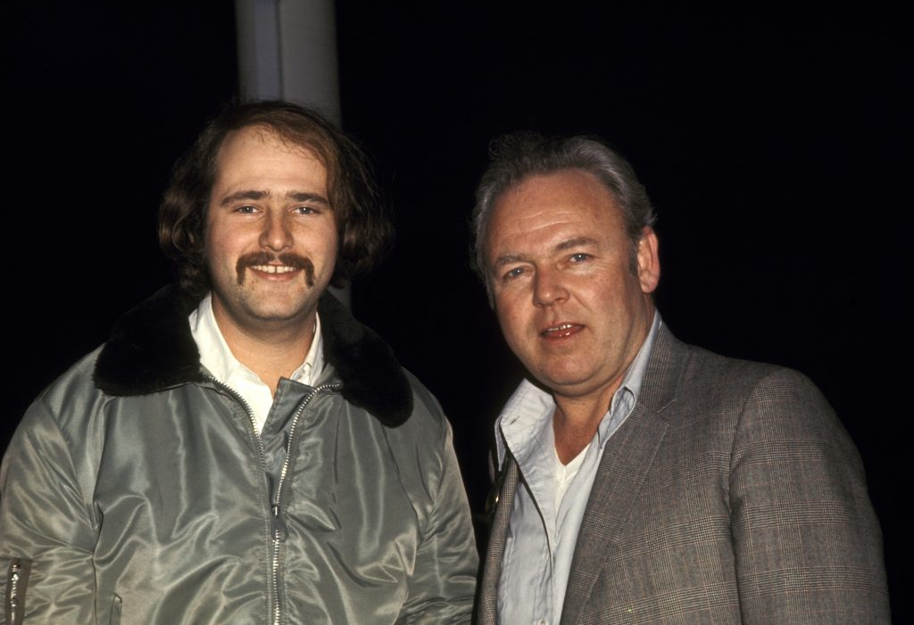 Rob Reiner, left, and Carroll O'Connor of 'All in the Family,' 1972