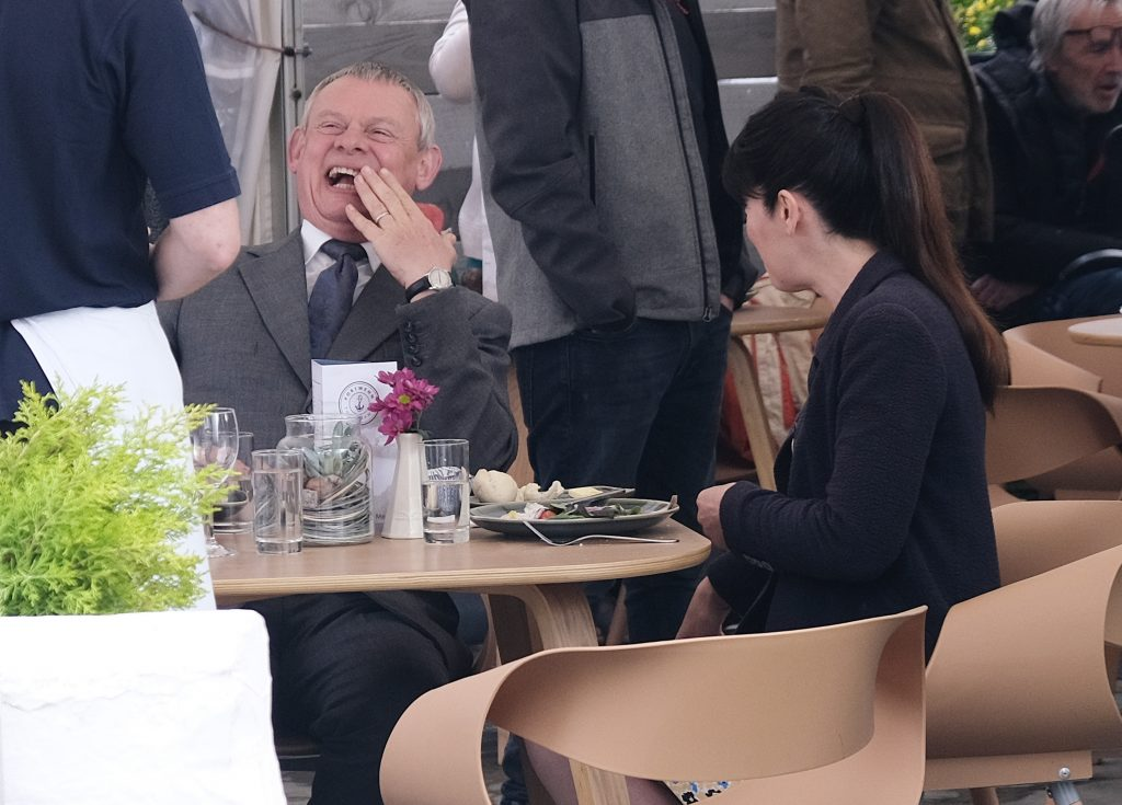 On the set of 'Doc Martin'