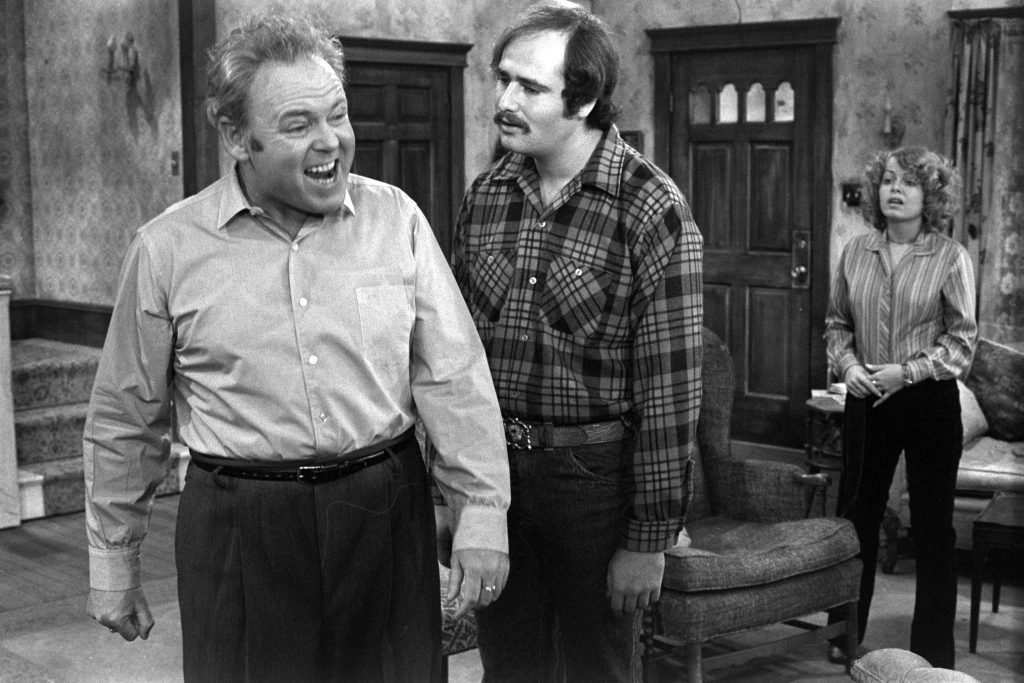 On the set of 'All in the Family'