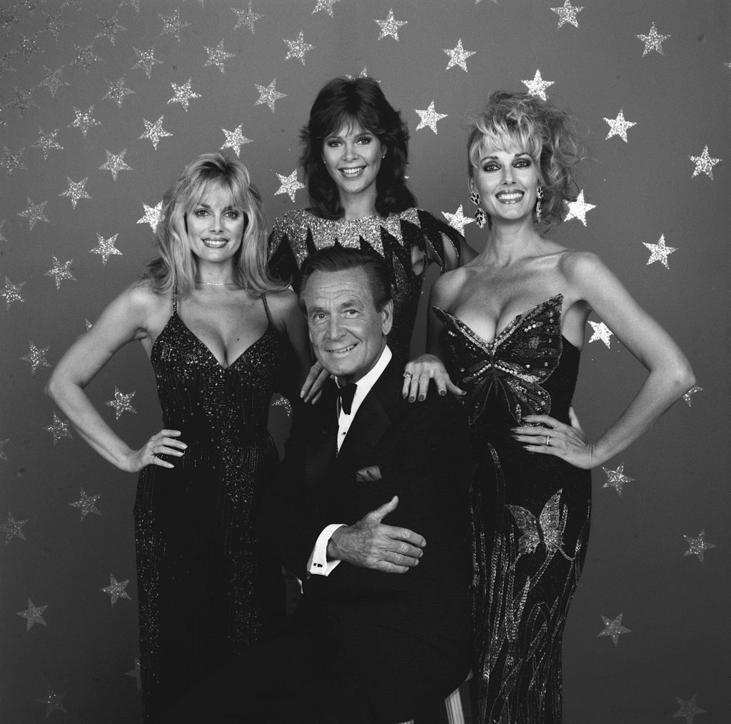 Bob Barker (center) with his 'Barker's Beauties' including to the far left, Dian Parkinson