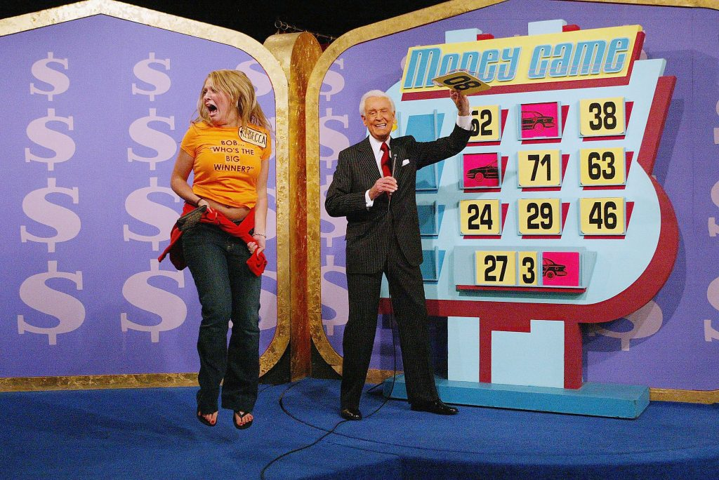 Bob Barker, right, on 'The Price Is Right'