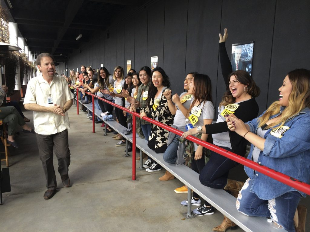 Stan Blits of 'The Price Is Right,' scanning the crowd for potential contestants