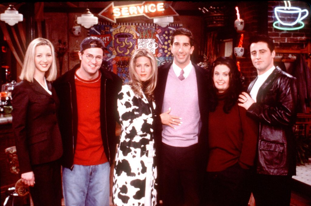 Lisa Kudrow, far left, and the cast of 'Friends'