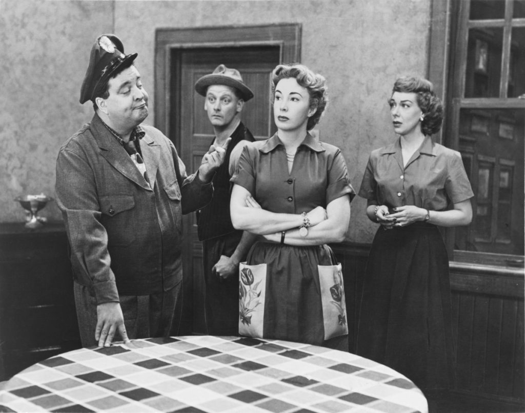 A scene from 'The Honeymooners' television comedy