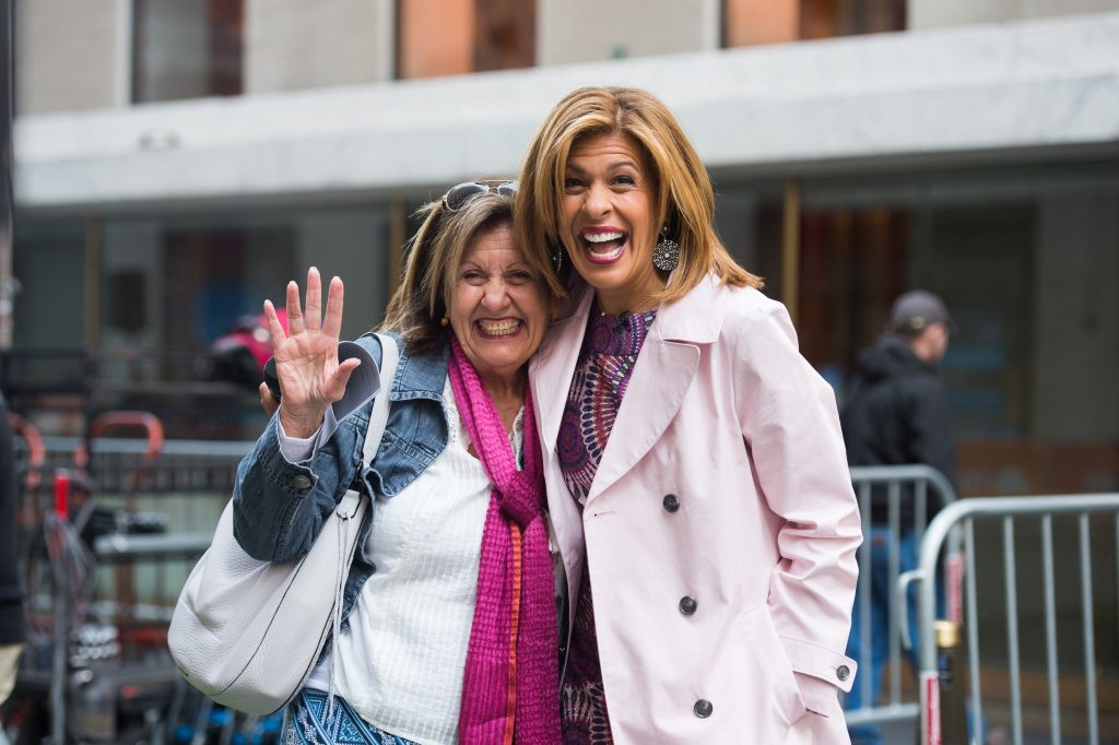 Hoda Kotb, right, of 'Today' with her mother, Sami