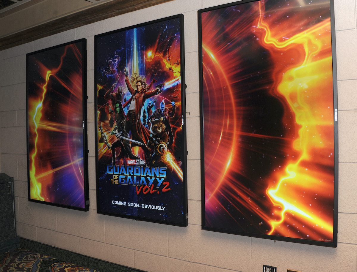 'Guardians Of The Galaxy Vol. 2' signage | Albert L. Ortega/Getty Images