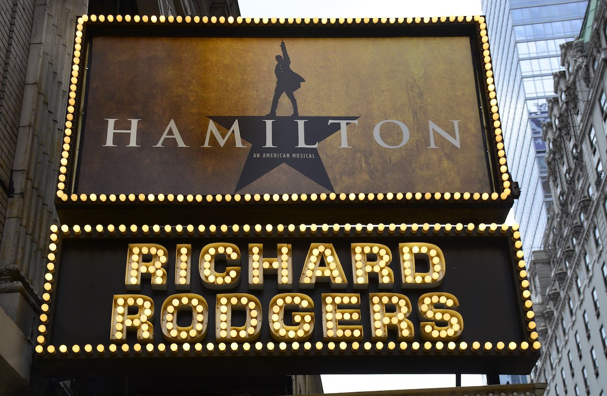 The Richard Rodgers Theatre in New York City, where 'Hamilton' premiered