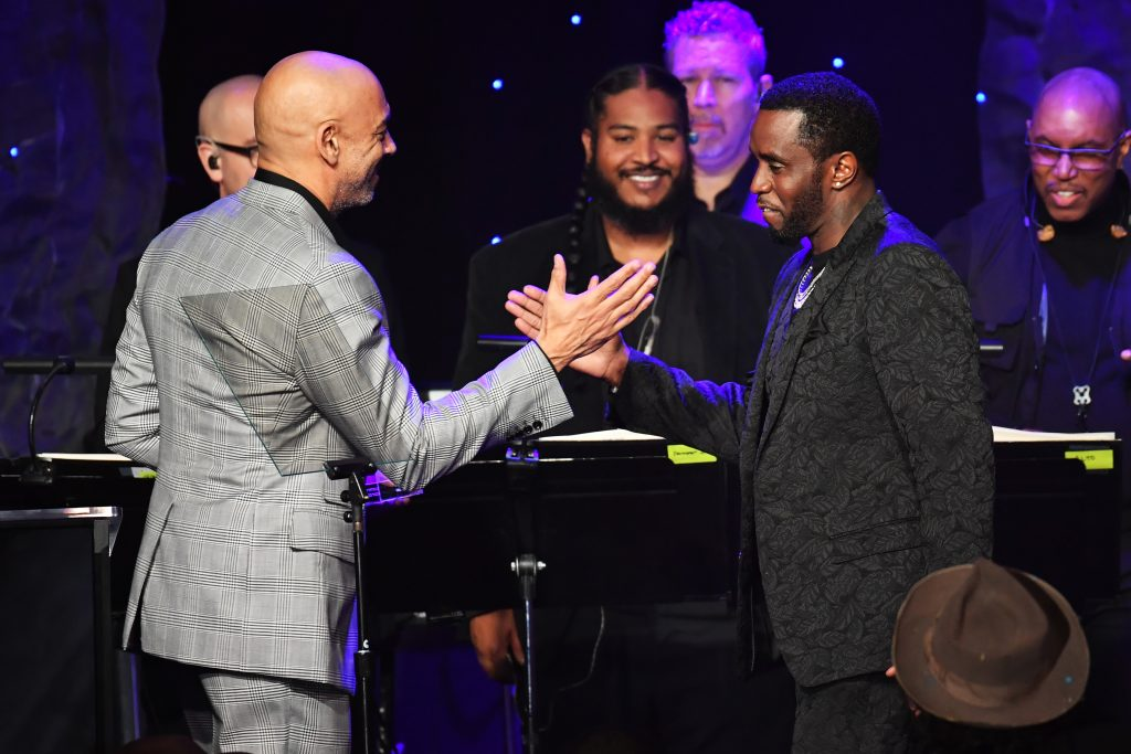 """Harvey Mason Jr. and Sean """"Diddy"""" Combs 