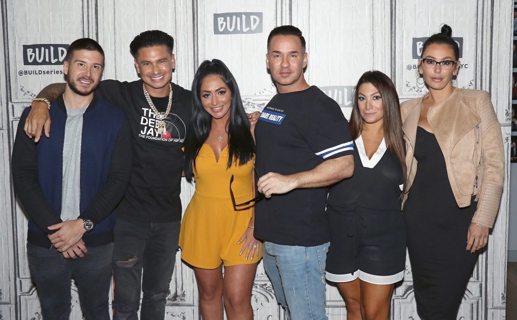 Vinny Guadagnino, Pauly DelVecchio, Angelina Pivarnick, Mike 'The Situation' Sorrentino, Deena Cortese and Jenni 'JWoww' Farley