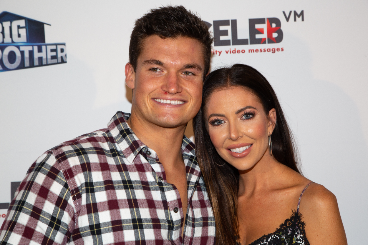 Jackson Michie (L) and Holly Allen arrive for the Big Brother 21 Finale Party at The Edison