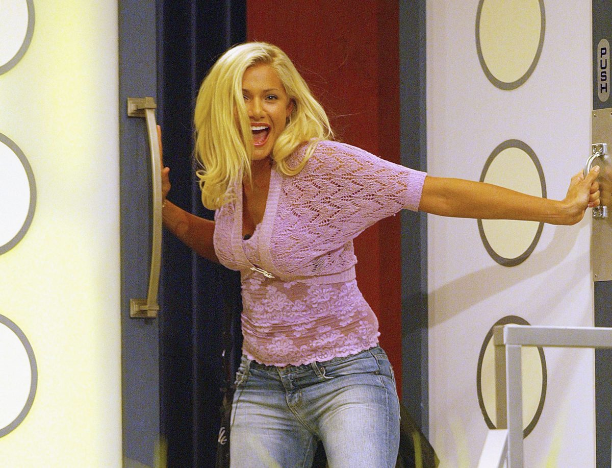Janelle Pierzina, 25, of Miami Beach, Florida, a VIP cocktail waitress, became the thirteenth houseguest to be evicted from the Big Brother house
