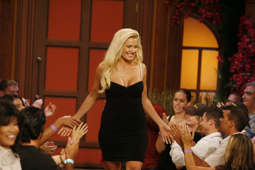 """Janelle Pierzina greets audience members at """"Big Brother 7: All-Stars"""""""