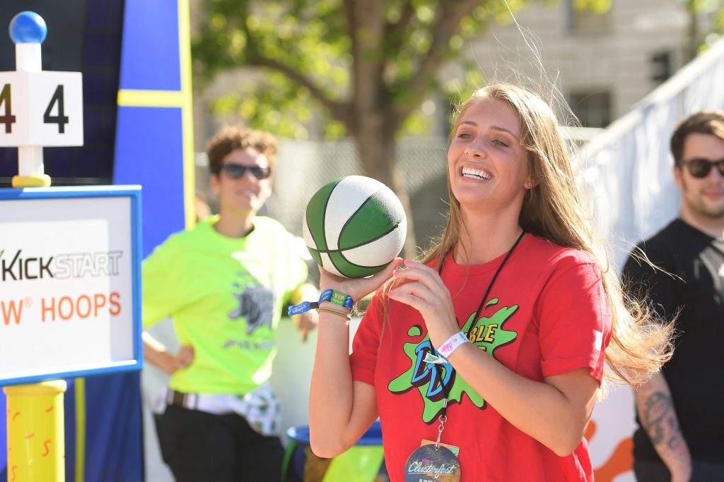 Jenna Compono attends Double Dare presented by Mtn Dew Kickstart at Comedy Central presents Clusterfest
