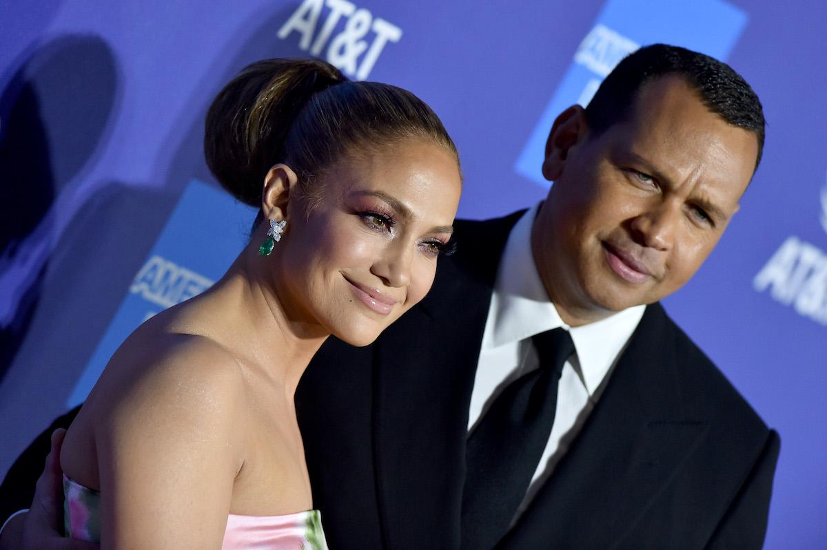 Jennifer Lopez With Alex Rodriguez in Miami February 14