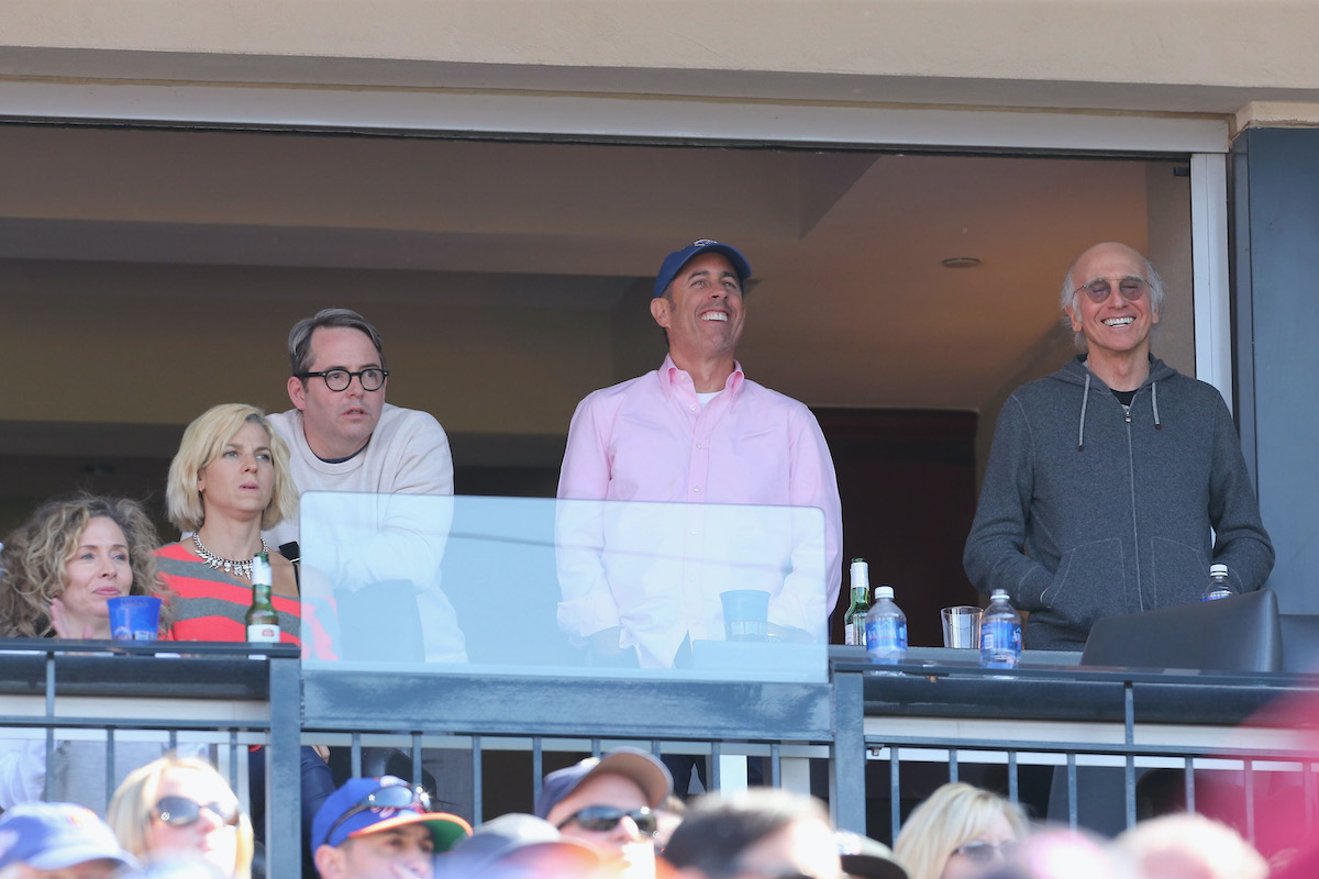 Matthew Broderick, Jerry Seinfeld and Larry David