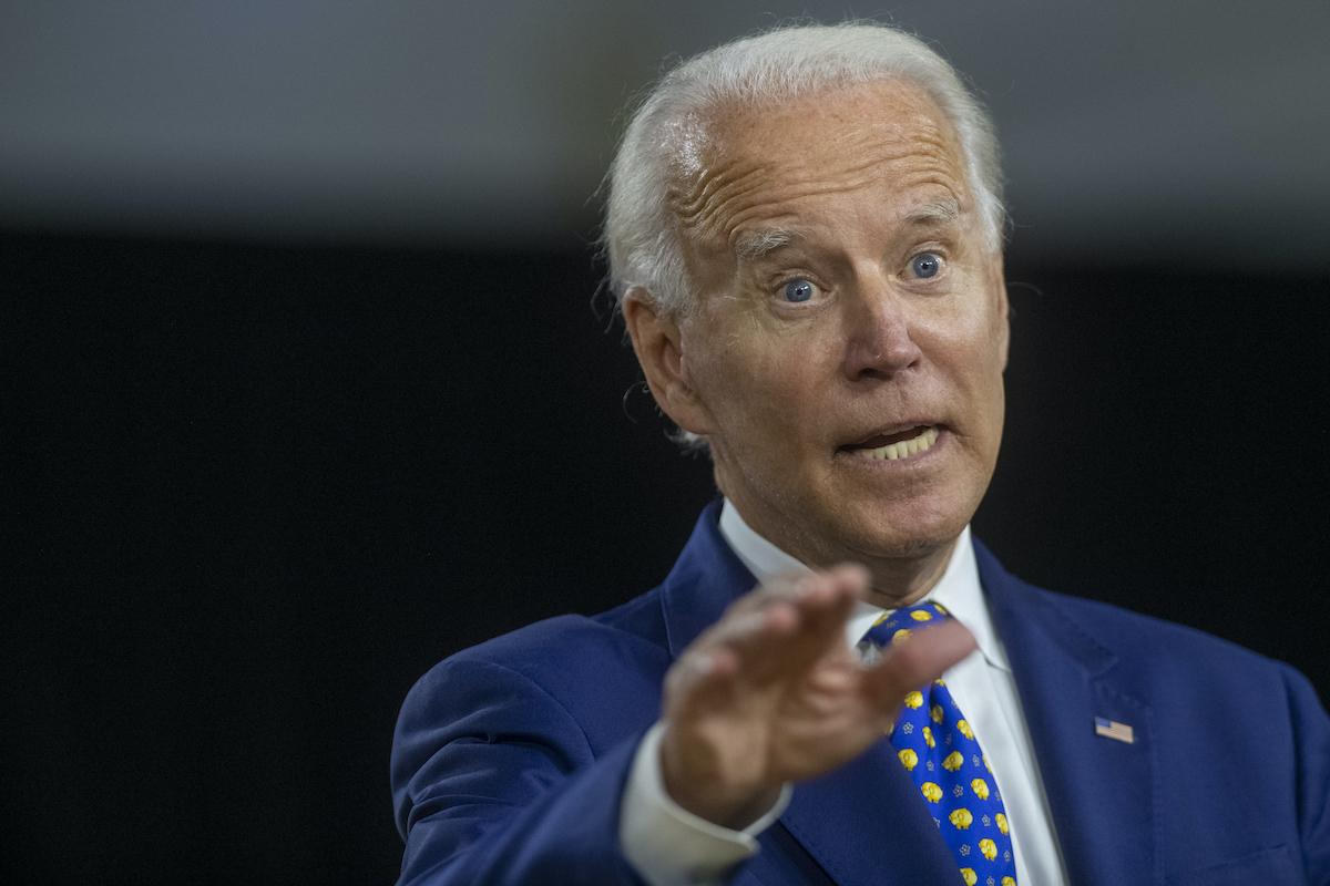Former Vice President Joe Biden delivers a speech