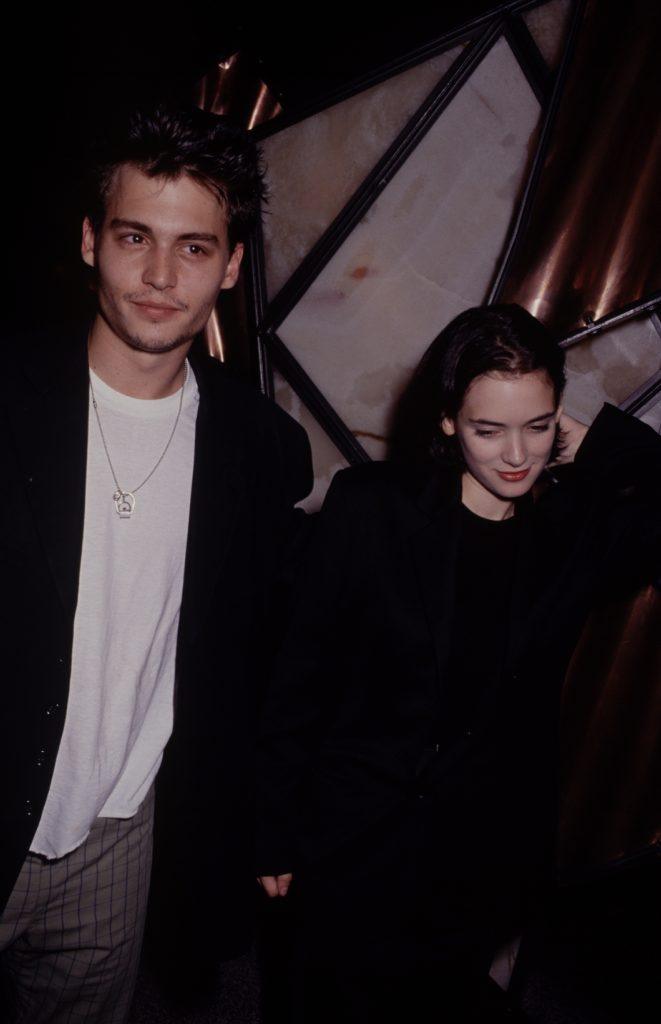 Johnny Depp and Winona Ryder snapped in the 90s