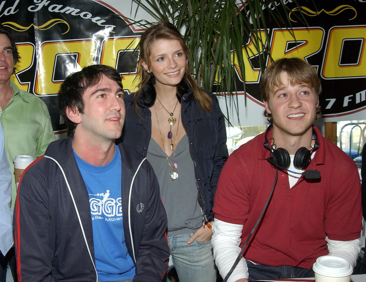 Josh Schwartz, Mischa Barton, and Ben McKenzie during a radio interview
