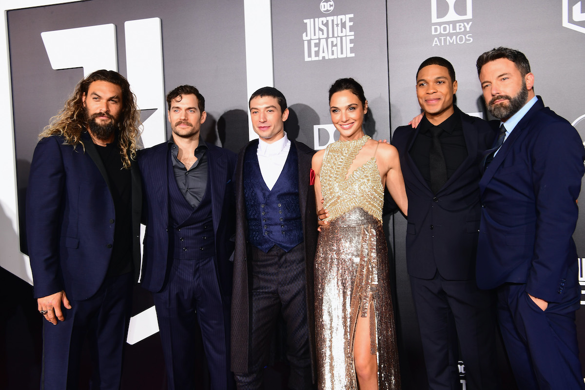The cast of 'Justice League' at the movie's premiere