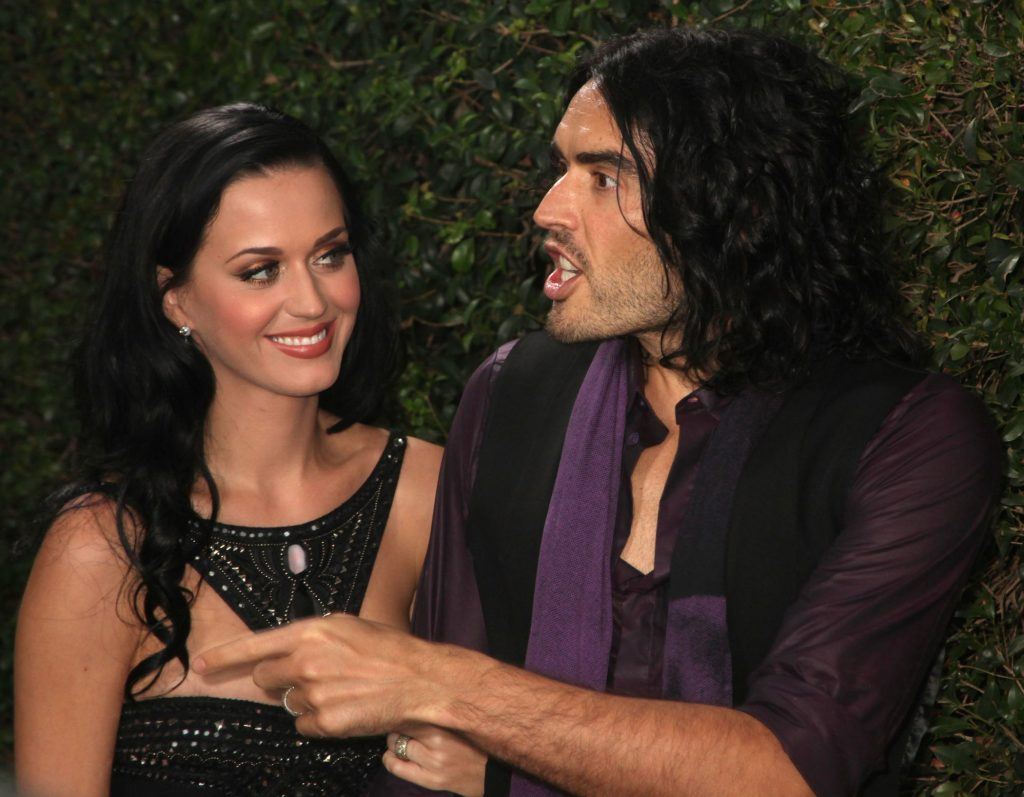 Katy Perry and Russell Brand arrive at Rolling Stone Restaurant And Lounge