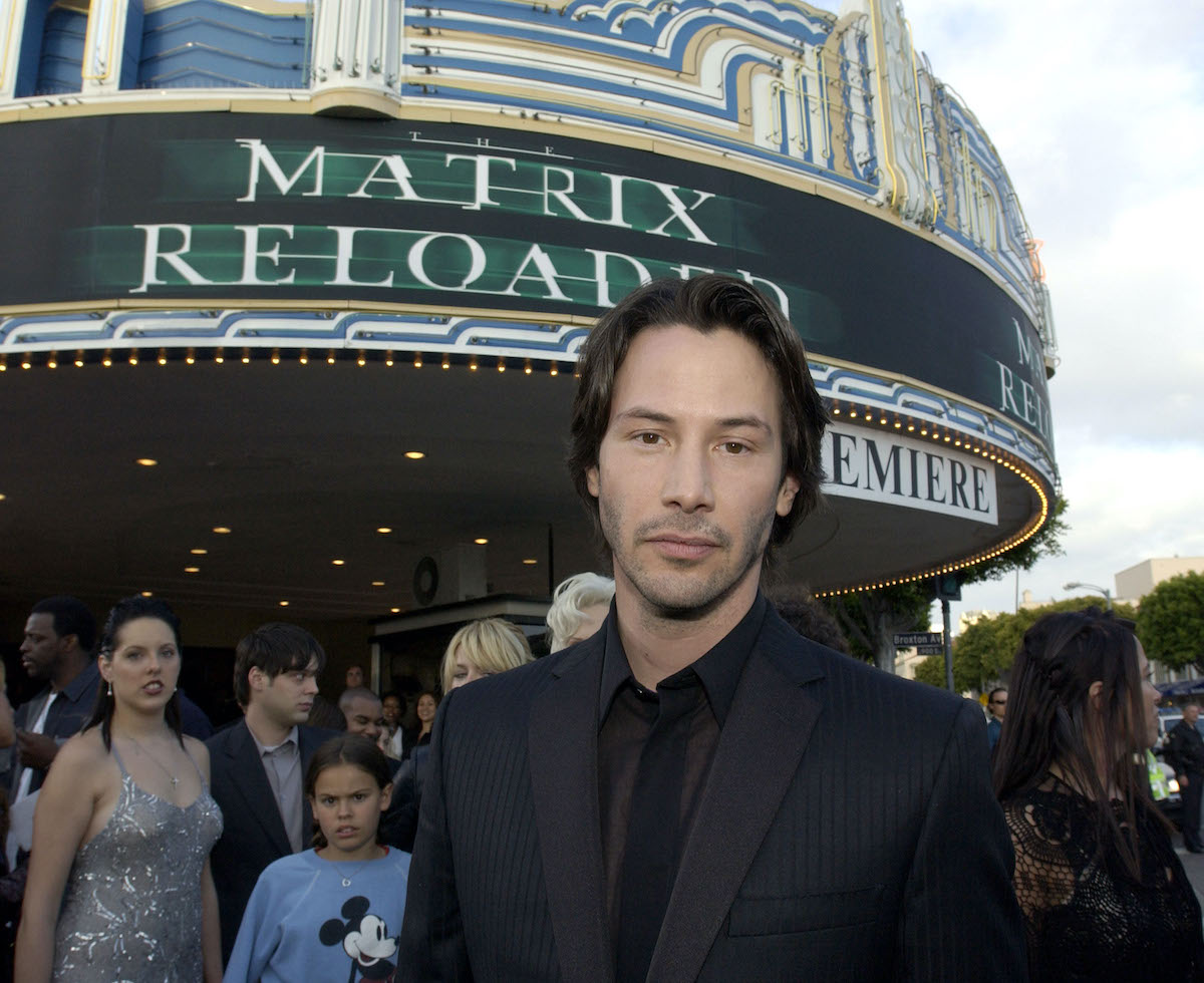 Keanu Reeves at 'The Matrix Reloaded' premiere