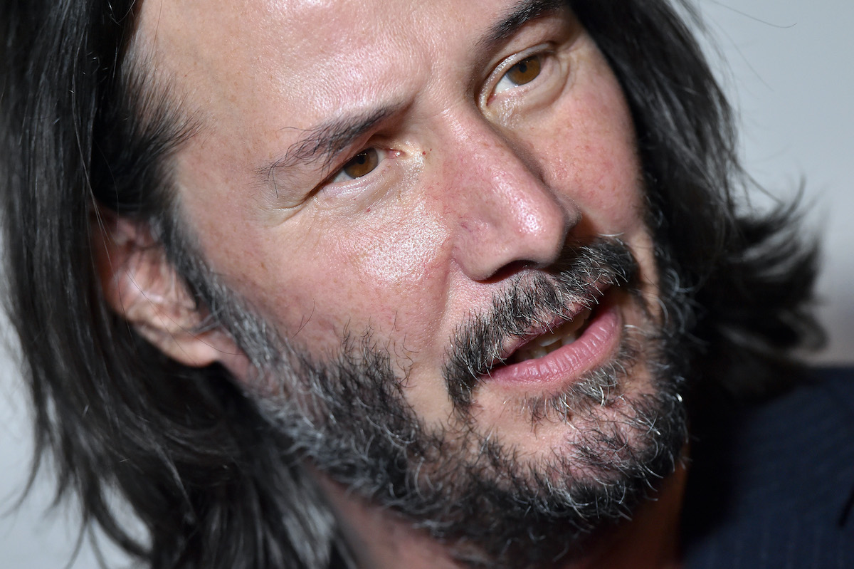 Keanu Reeves at a screening of 'Semper Fi'