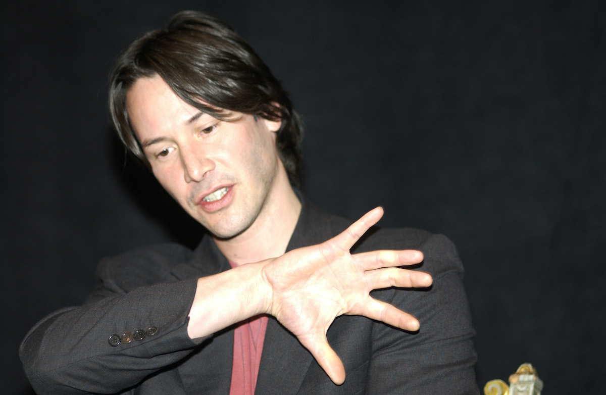 Keanu Reeves at 'The Matrix Reloaded' press conference